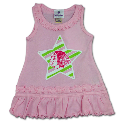 Chicago Blackhawks Infant Pink Dress
