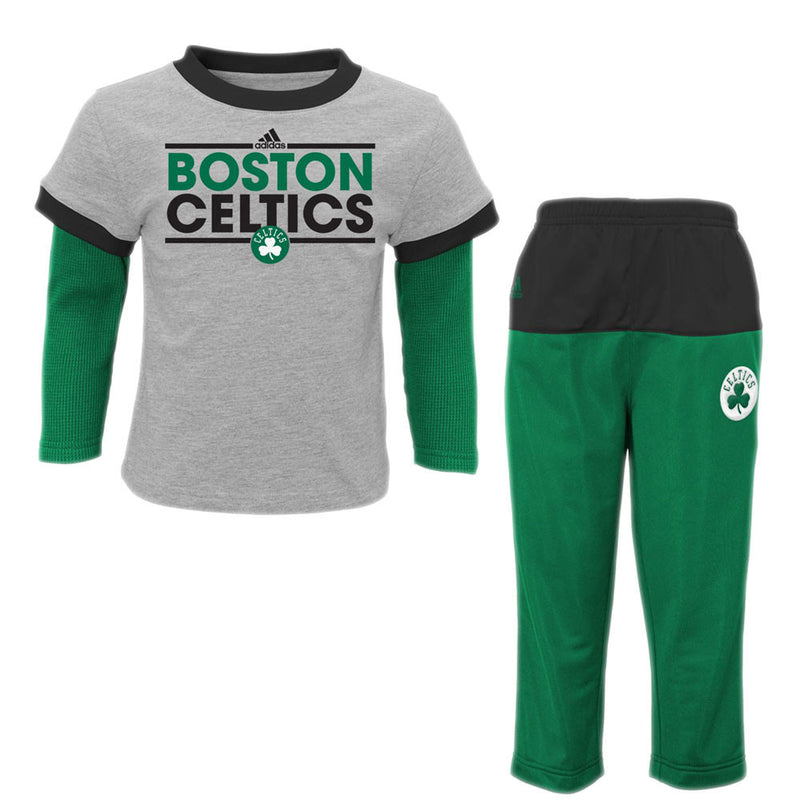 Celtics Layered Shirt and Pants Set