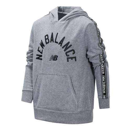 New Balance Boys Grey Heather Terry Hooded Pullover