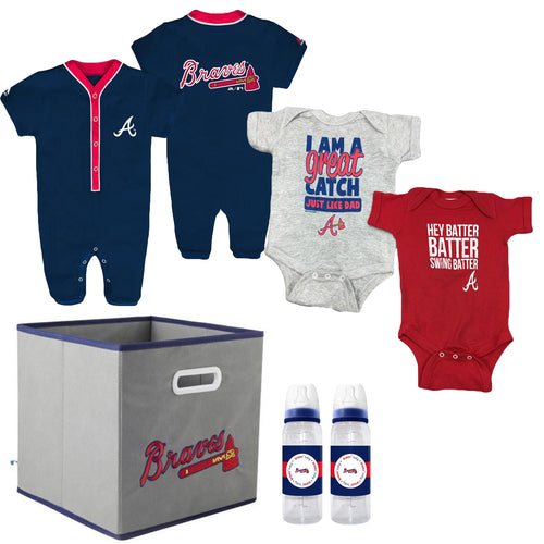 Braves Baby Boy Gift Set With Storage Cube