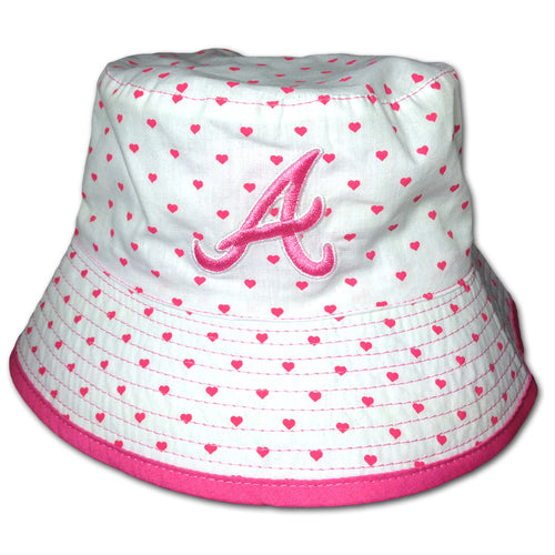 Baby Braves Reversible Hearts Hat