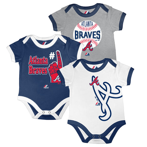 Braves Baby Onesie Bib And Bootie Set Babyfans