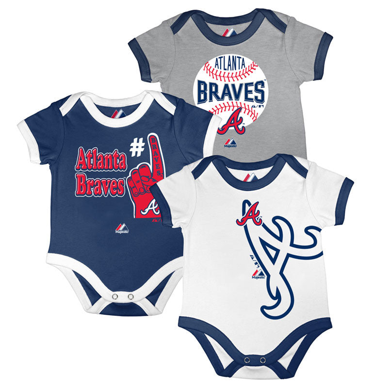 Braves Bases Loaded Bodysuit Trio