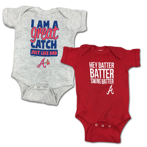 "Braves ""Hey Batter"" Bodysuit 2 Pack"