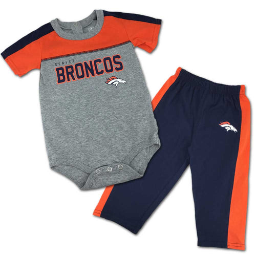 Broncos Fan Playtime Creeper & Pants Outfit
