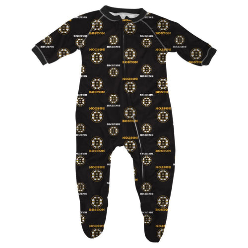 Bruins Baby Zip Up Pajamas