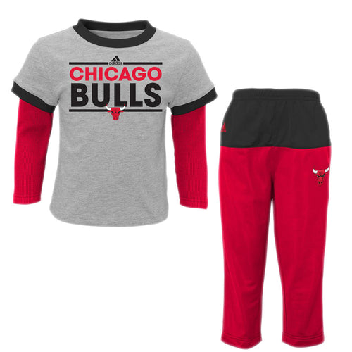 Bulls Layered Shirt and Pants Set