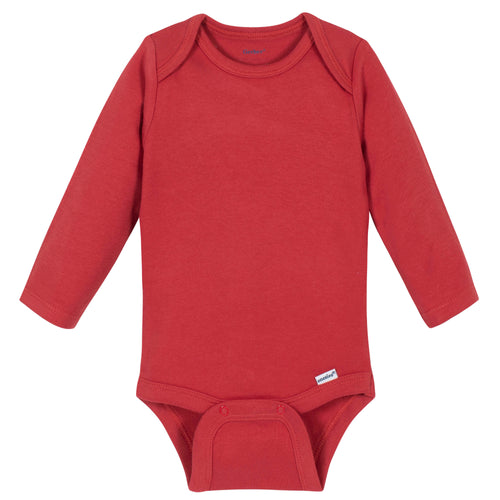 Red Classic Long Sleeve Onesies® Brand Bodysuit