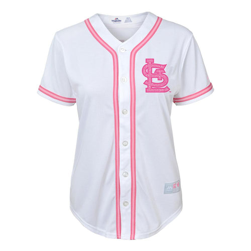 Cardinals Girl Glitter Pink Team Jersey