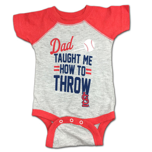 Mlb baby clothing st louis cardinals babyfans babyfans cardinals baby dad taught me bodysuit negle Image collections