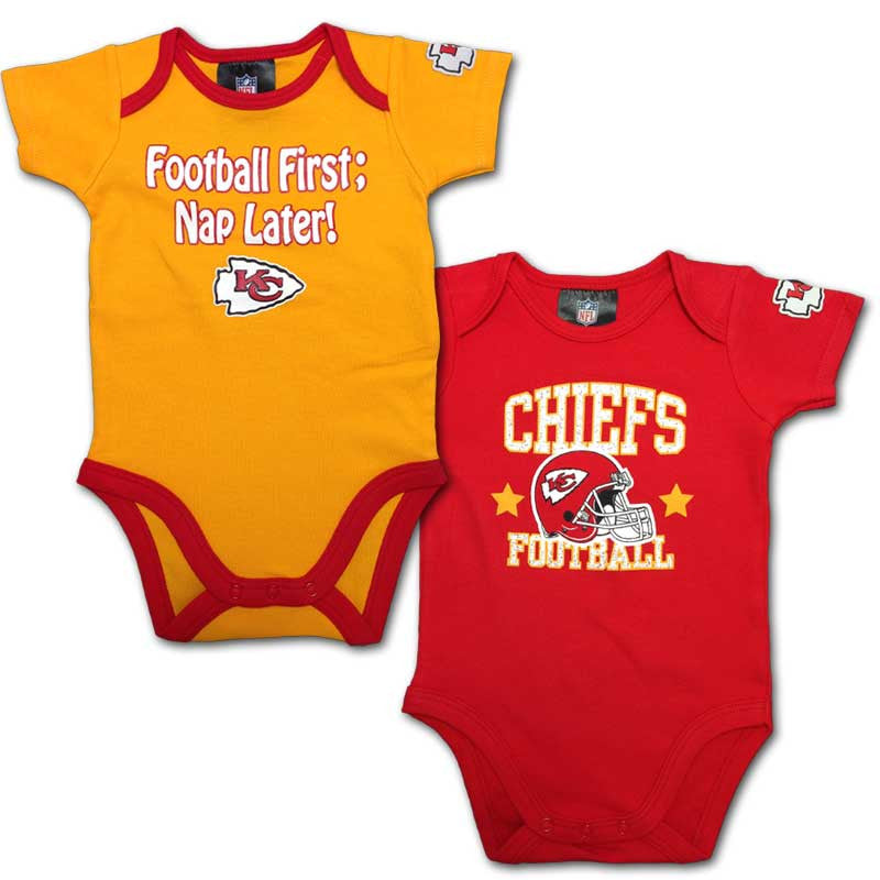"Chiefs Baby ""Nap Later!"" Bodysuit 2-Pack"