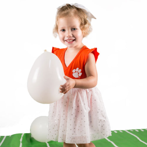 Clemson Baby Girl Tutu Bodysuit Dress