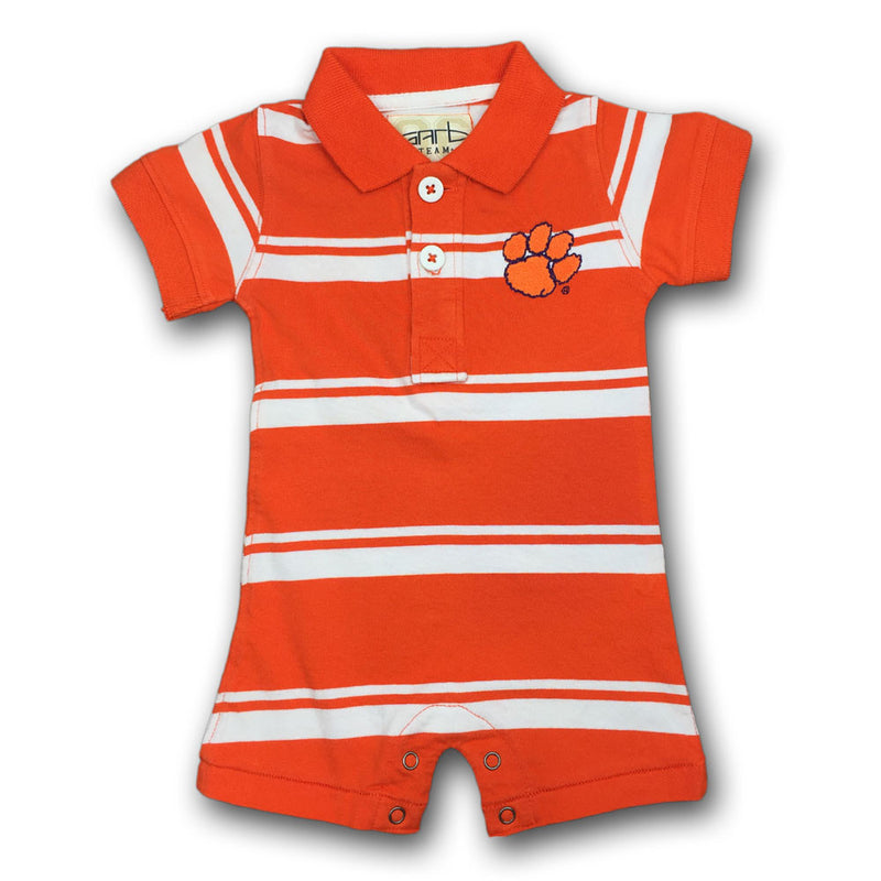 Clemson Baby Striped Romper