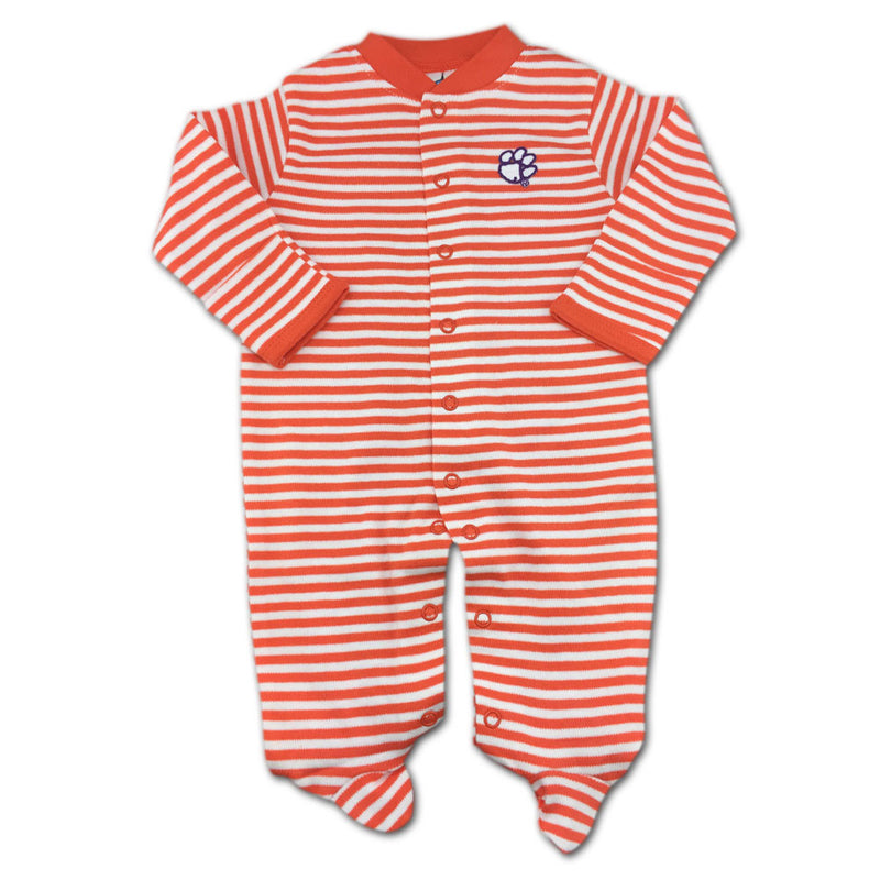 Clemson Striped Footed Sleeper