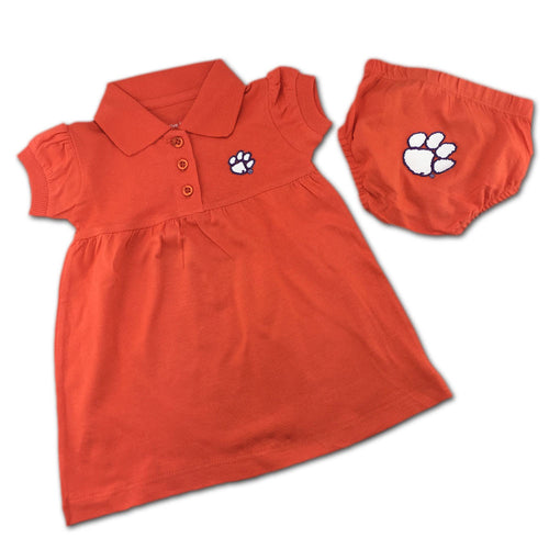 Clemson Polo Dress with Embroidered Bloomers