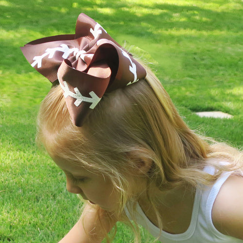 Clip Football Bow