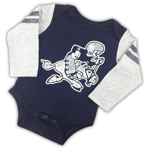 Dallas cowboys baby clothes babyfans babyfans cowboys throwback logo bodysuit negle