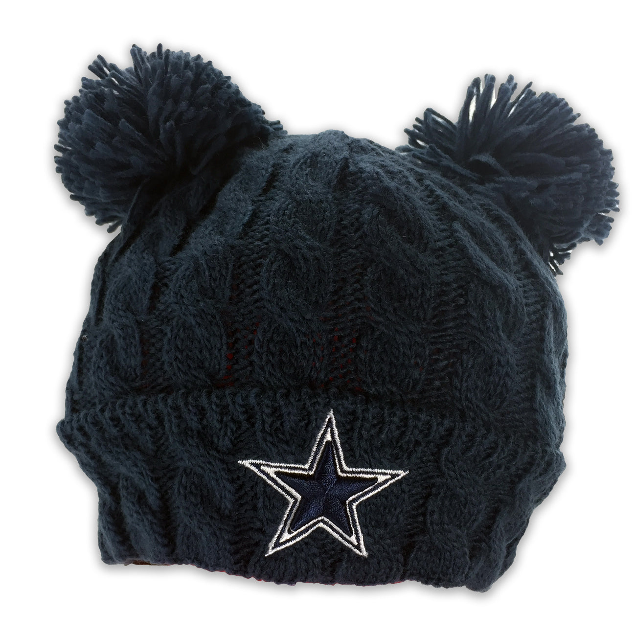 Cowboys Double Pom Pom Hat – babyfans ef39ca5bb