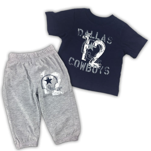 Vintage Style Cowboys Tee & Pants Set