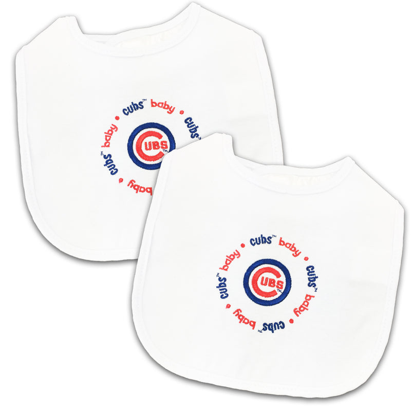 Cubs Two Pack Baby Bibs