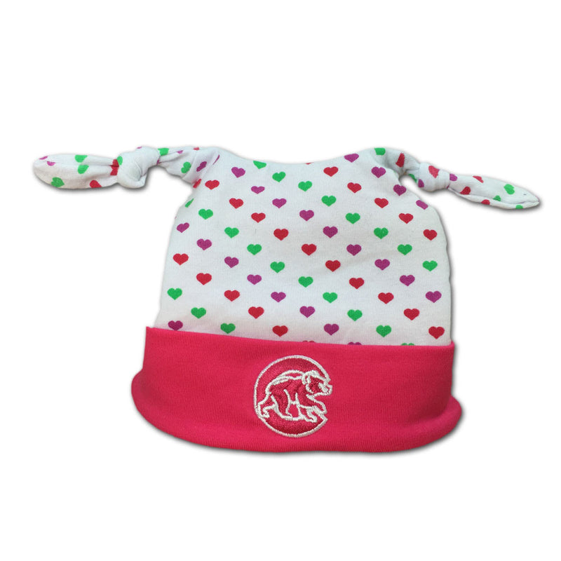 Chicago Cubs Pink Infant Beanie