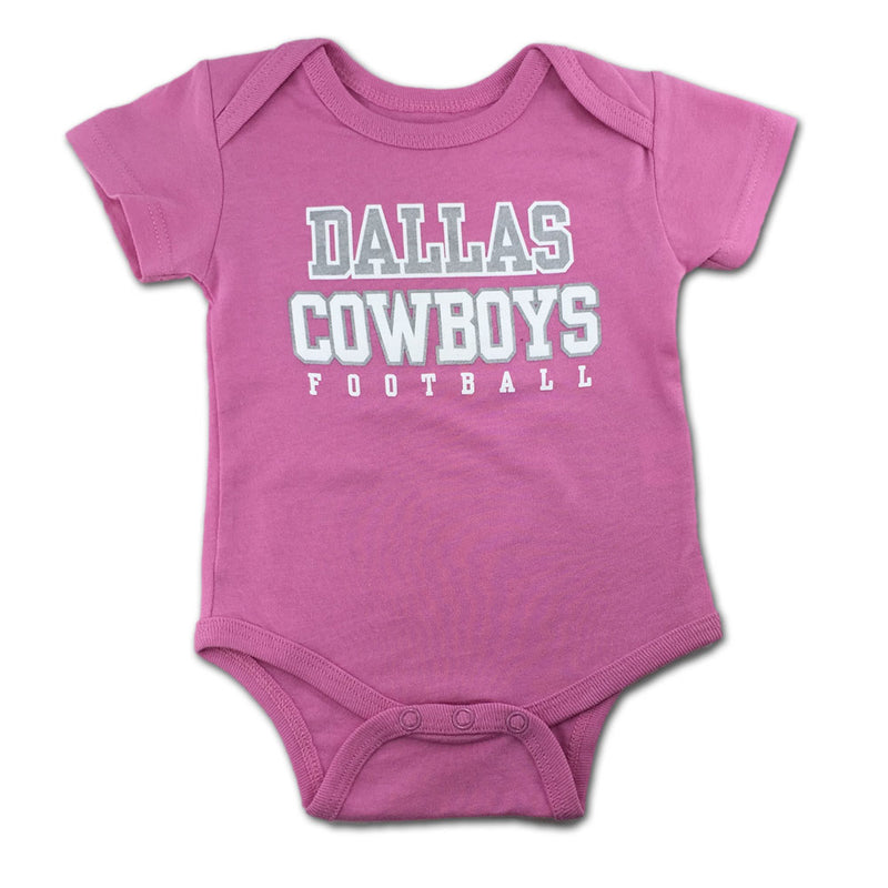 Dallas Cowboys Girls Pink Logo Bodysuit