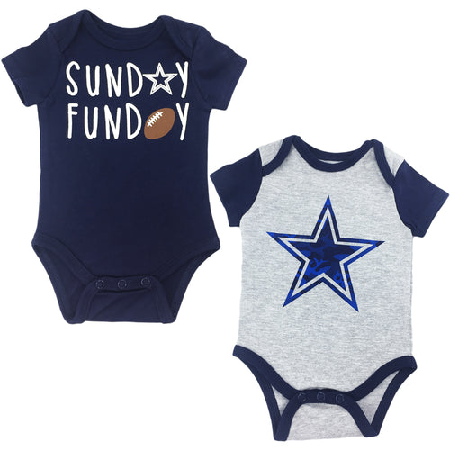 Sunday Funday Cowboys Baby Bodysuits