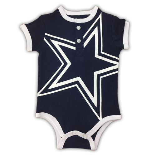 Dallas cowboys baby clothes babyfans babyfans super star henley bodysuit negle Gallery