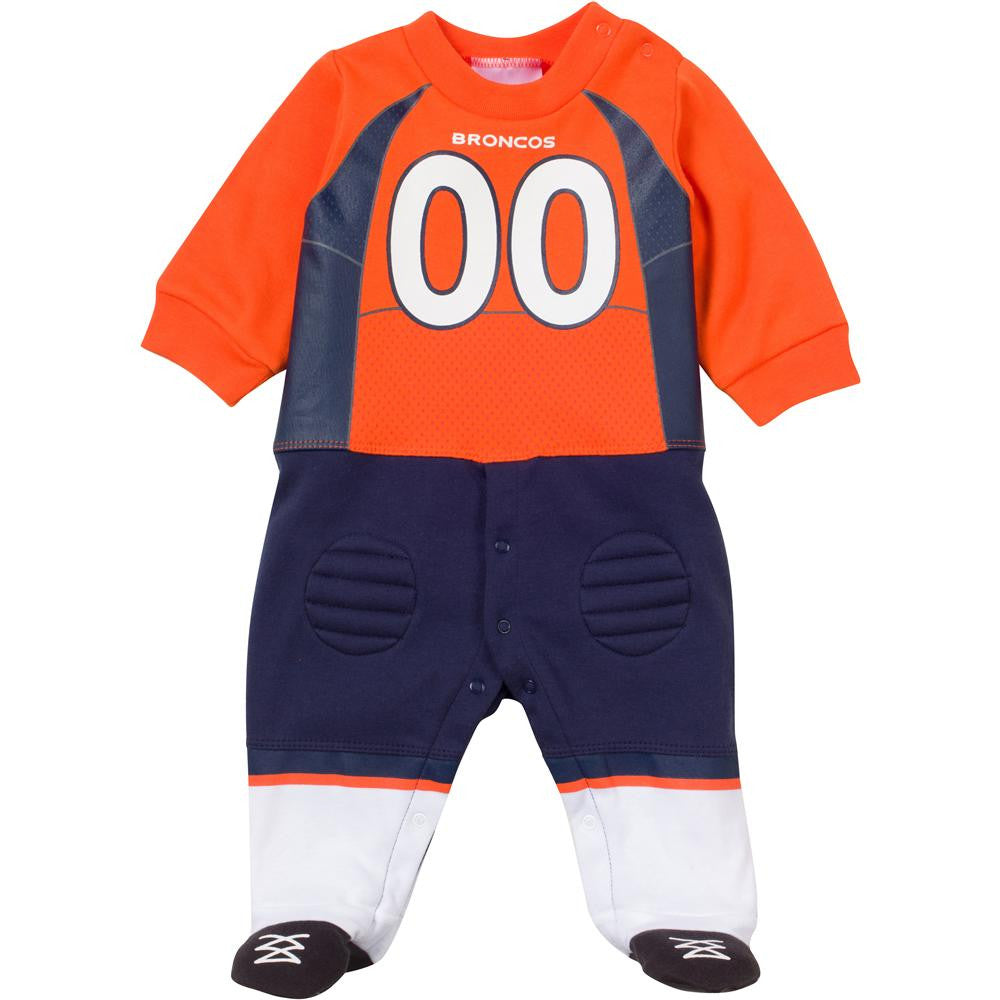 Baby Broncos Fan Football Uniform Coverall Babyfans