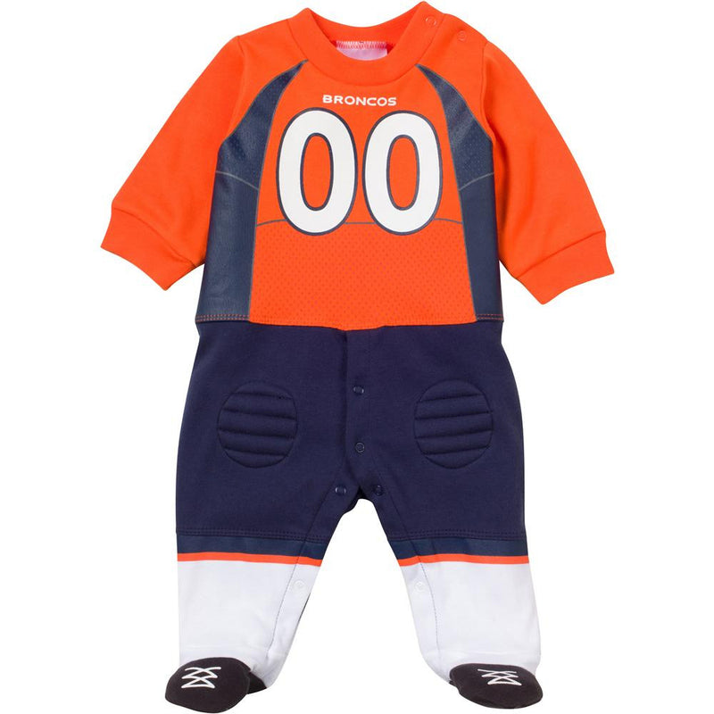 Baby Broncos Fan Football Uniform Coverall