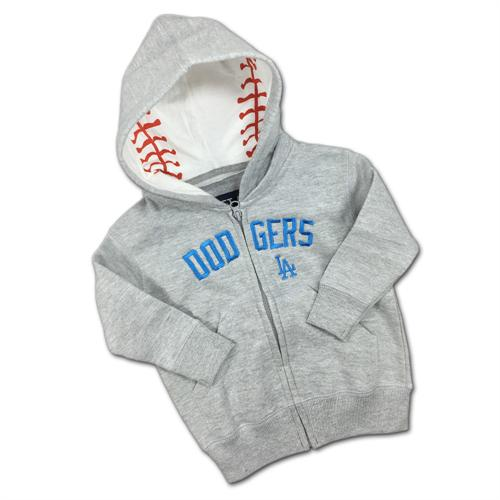 Embroidered Zip Up Dodgers Toddler Hoodie