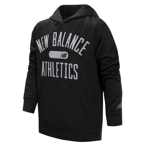 New Balance Boys Black Graphic Hoodie
