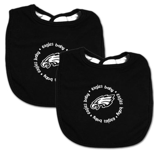Eagles Two Pack Baby Bibs