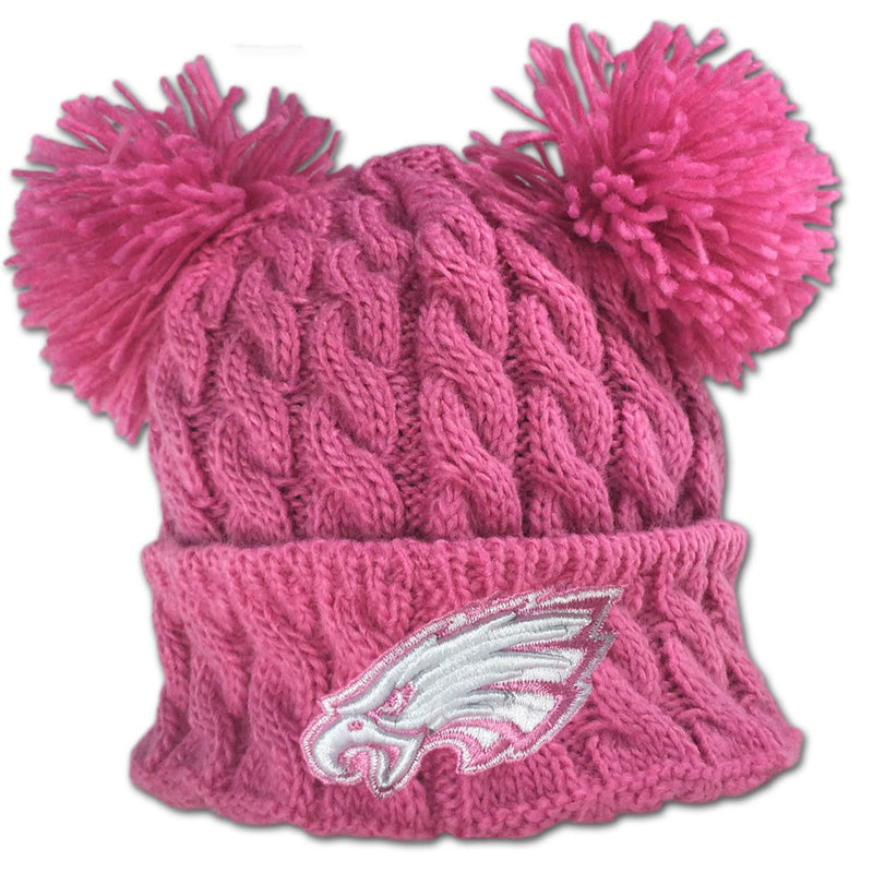Eagles Pink Double Pom Pom Hat