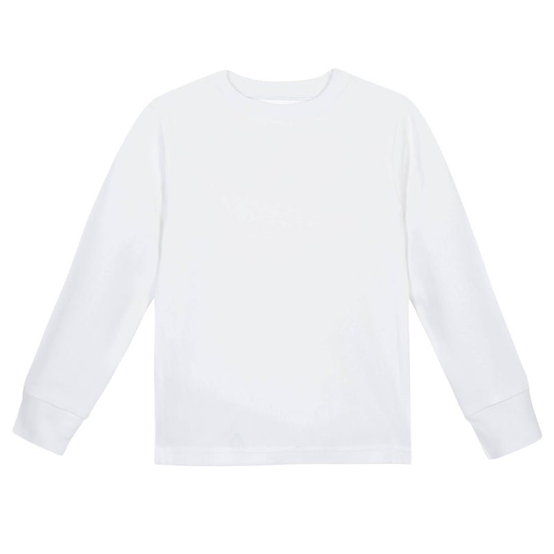 White Classic Long Sleeve Tee Shirt