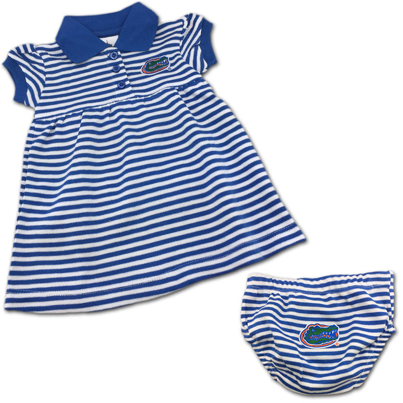 Florida Striped Polo Dress with Bloomers