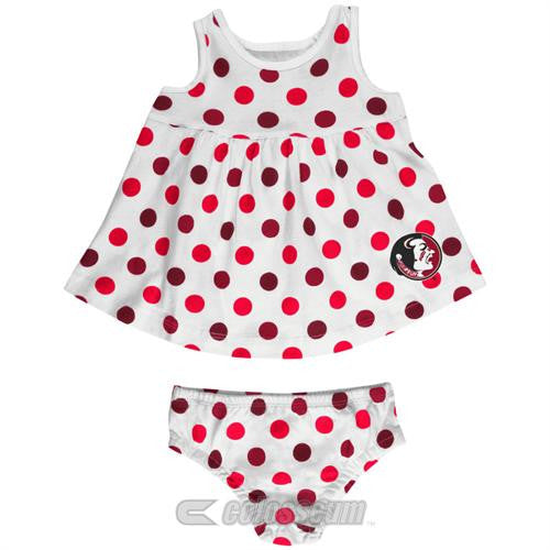 Florida State Baby Dotty Sundress with Bloomers