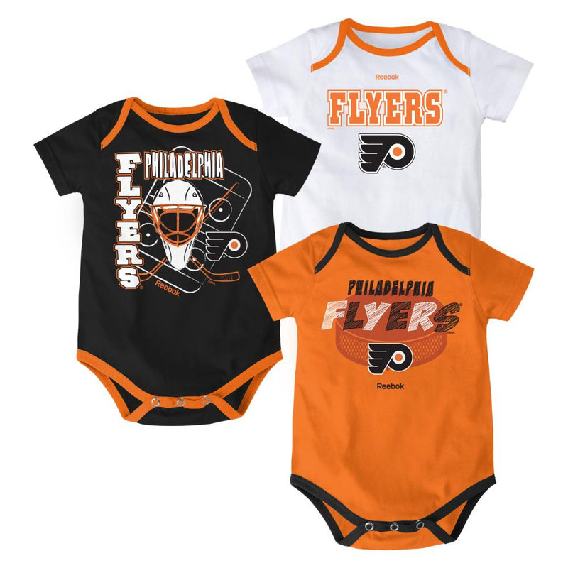Flyers Hockey Onesies 3-Pack
