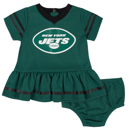 Jets Baby Baby Girl Team Dress with Bloomers