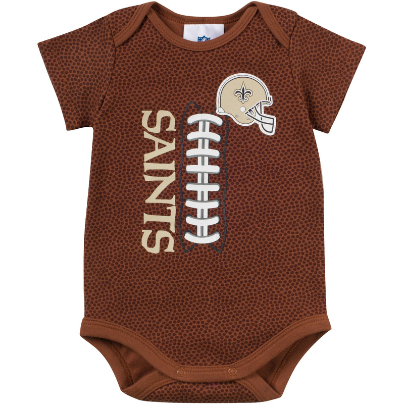 Baby Saints Fan Pigskin Onesie