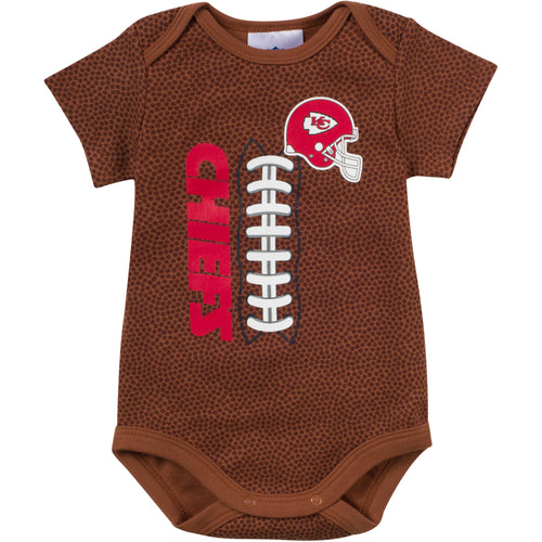 Nfl infant clothing kansas city chiefs baby apparel babyfans baby chiefs fan pigskin onesie negle Choice Image