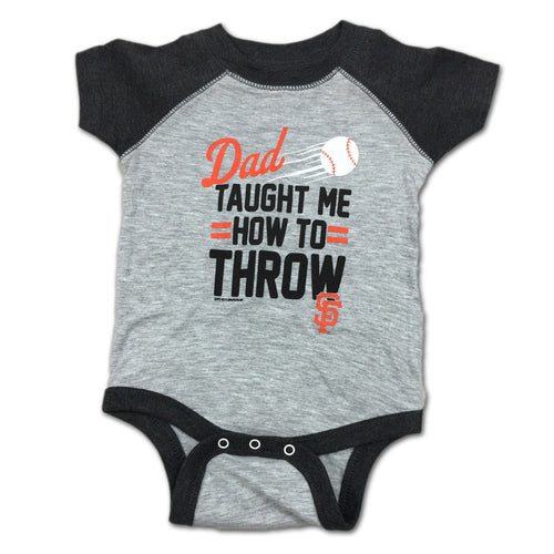 "Giants Baby ""Dad Taught Me"" Bodysuit"