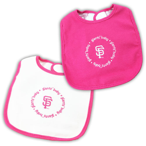 Pink Giants Two Pack Baby Bibs