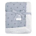 Just Born All-Star Plush Blanket in Heather Grey