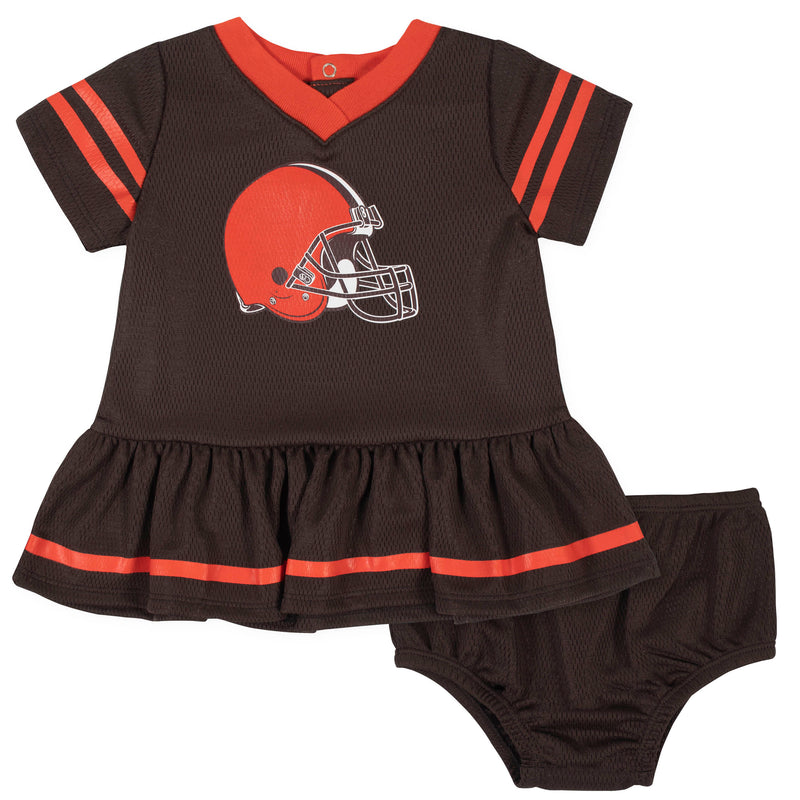 Browns Baby Girl Team Dress with Bloomers