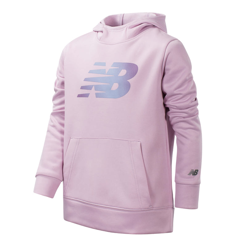 New Balance Girls Oxygen Pink Graphic Hoodie