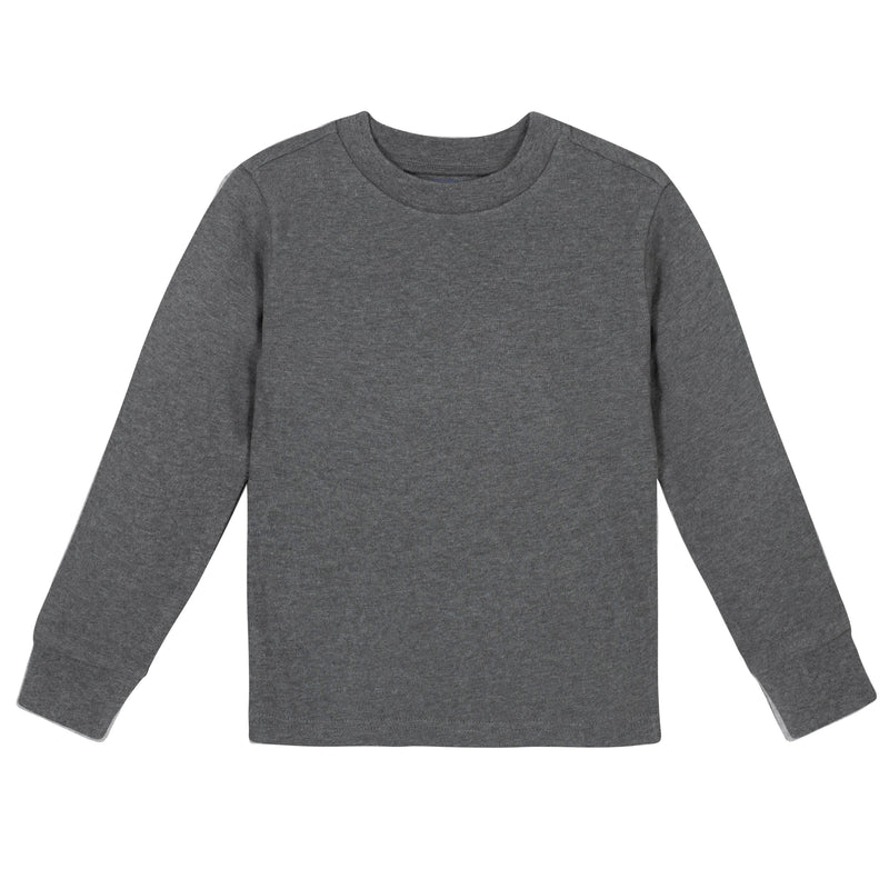 Gray Classic Long Sleeve Tee Shirt