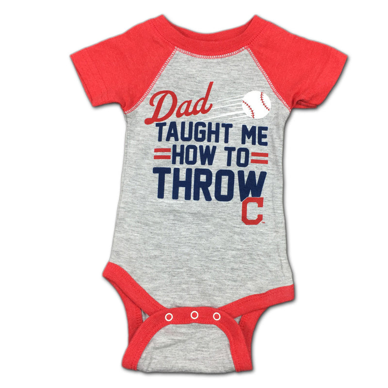 "Indians Baby ""Dad Taught Me"" Bodysuit"