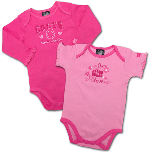 Indianapolis Colts Pink Onesies