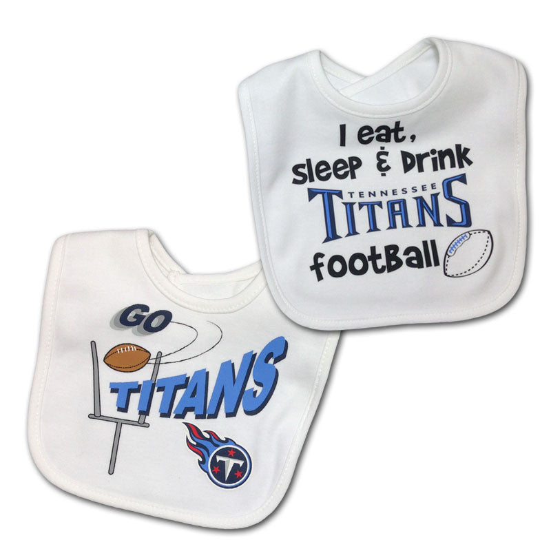 Tennessee Titans Two-Toned Snap Baby Bib